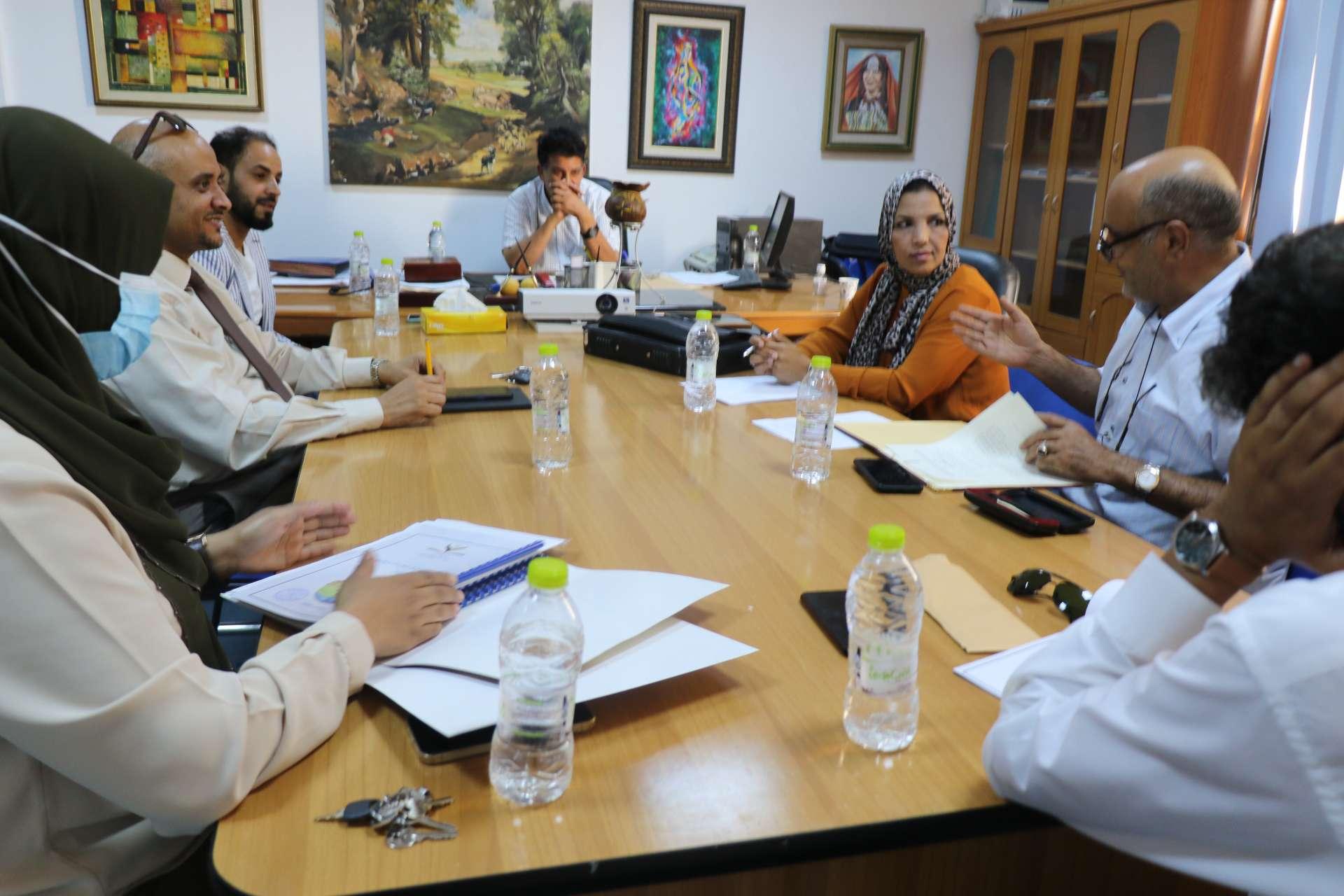 الاجتماع التشاوري لدراسة البرامج التدريبية بين الاكاديمية الليبية للدراسات العليا والمركز الدبلوماسي للدراسات الاستراتيجية و التنمية المستدامة.