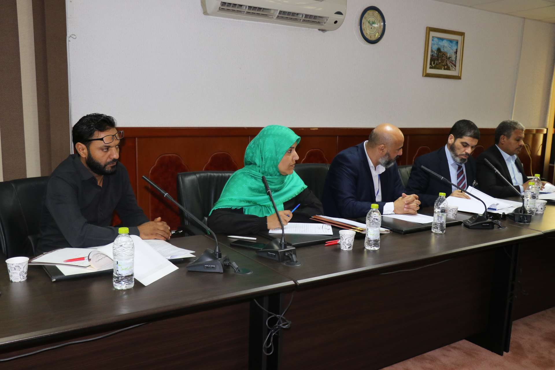الاجتماع التشاوري لدراسة مسودة اتفاق بين الاكاديمية الليبية للدراسات العليا وهيئة الرقابة الإدارية.
