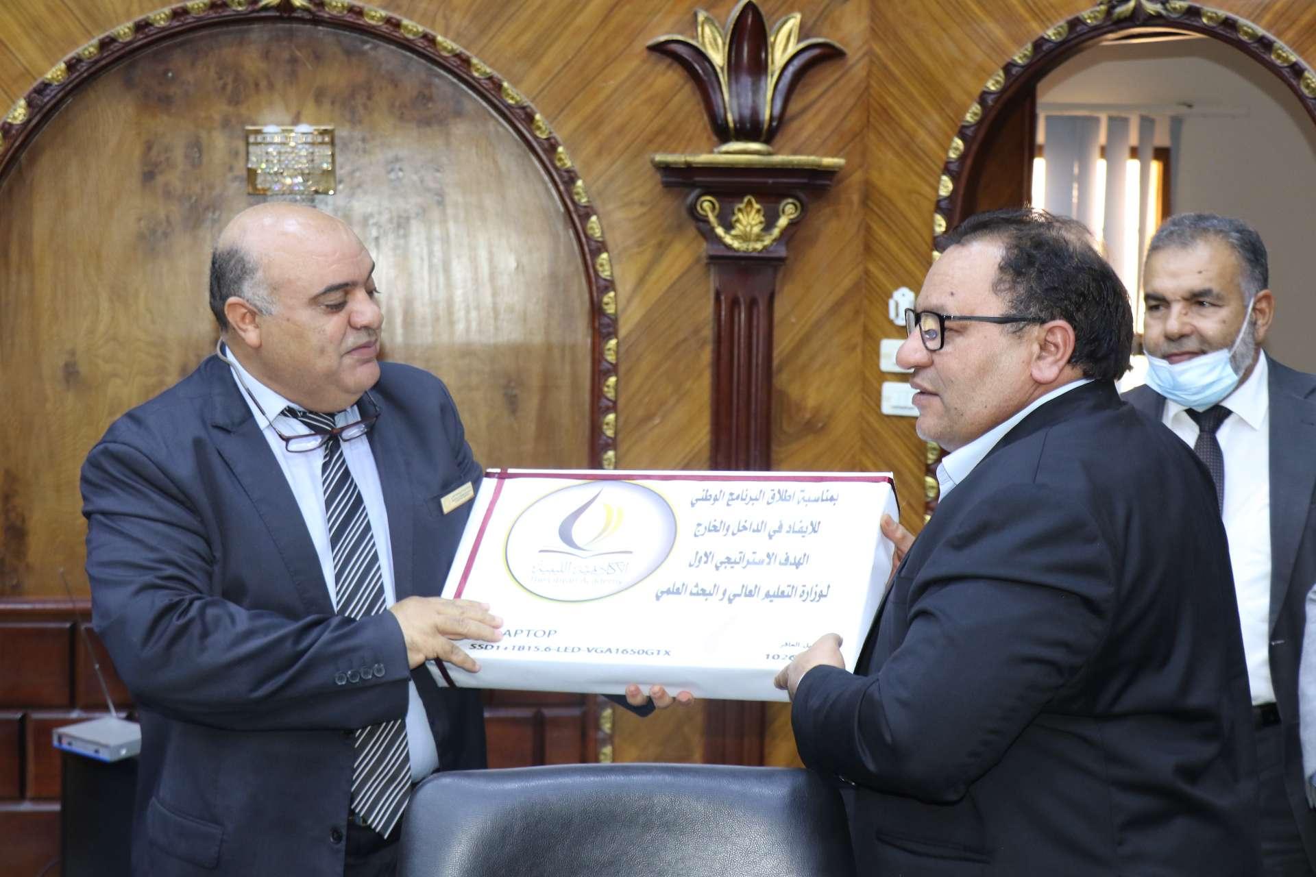 الأكاديمية الليبية تستضيف الاجتماع التقابلي الثاني لإدارة الملحقيات وشؤون الموفدين مع مدراء إدارات الدراسات العليا بمؤسسات التعليم العالي .